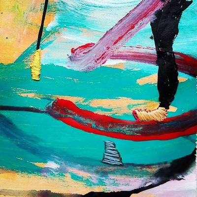 Stitched Story by Maya Frost. Adventures in Standup Paddleboarding: She Realized Too Late That Throwing Her Paddle, Though an Understandable Reaction To Seeing the Shark, Simply Created a New Problem